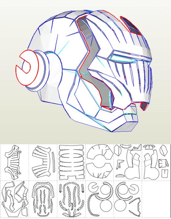 Patron en papier pour un casque d'Iron Man